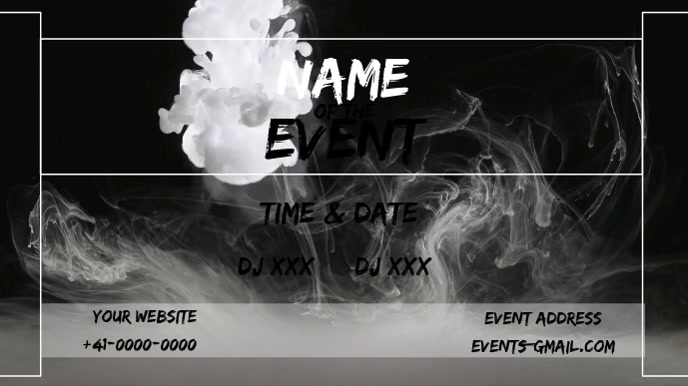 event flyer Ecrã digital (16:9) template