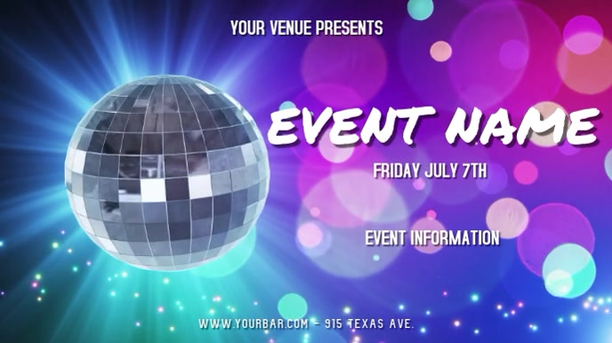EVENT FLYER Digitalt display (16:9) template