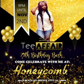customizable design templates for all black party postermywall