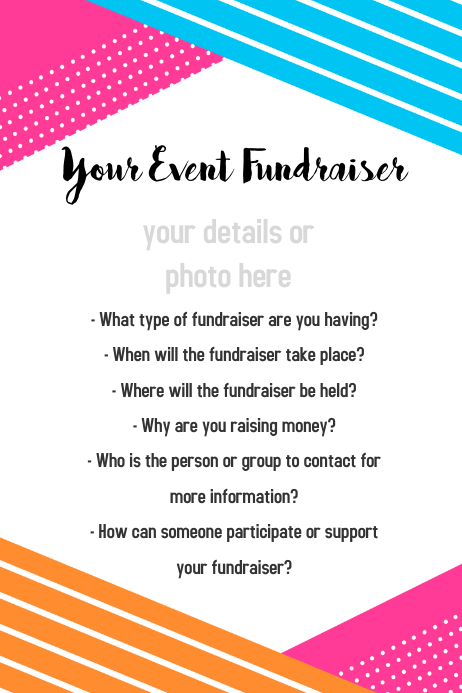 Event Flyer Poster Template Small Business Fundraiser Party