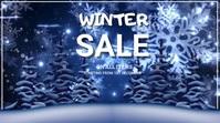 event flyer template, winter Digitalt display (16:9)