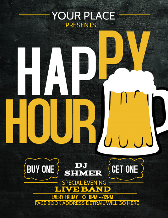 event flyer template,bar templates,Happy hour templates