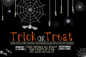 Event flyer template,Halloween template