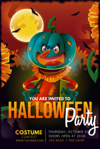 Event flyer template,Halloween template