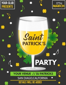 event flyer template,St.patricks flyer template
