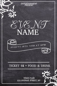 event flyer template Affiche