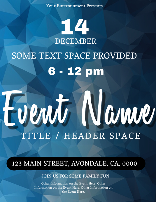 Event Flyer Template Postermywall