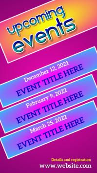Event flyer template Digital Display (9:16)