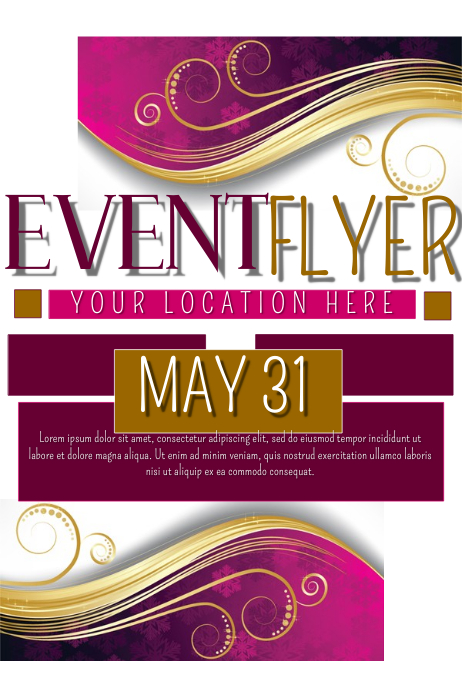 Event Flyer. Event Flyer Customizable Design Templates For Elegant