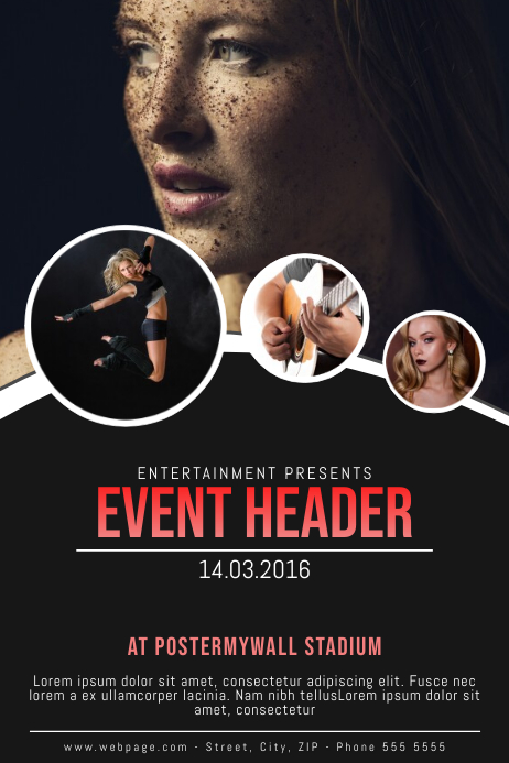 Event Flyer Template with images