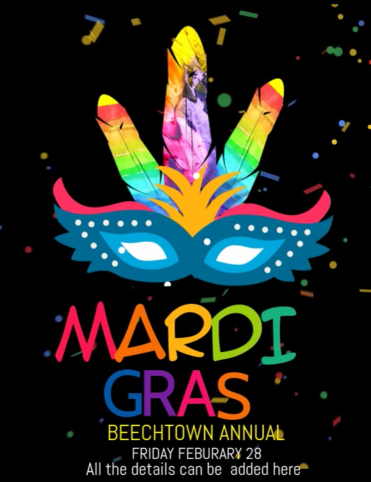 Event flyer video template,carnival flyers,mardigras flyers