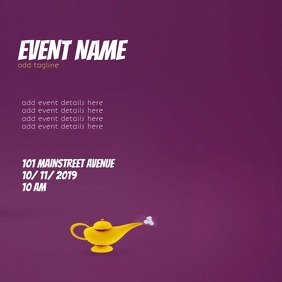 EVENT FLYER VIDEO TEMPLATE Квадрат (1 : 1)