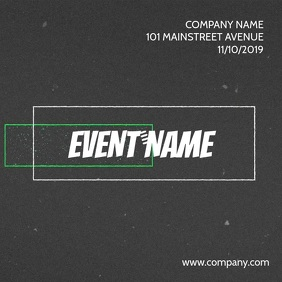 EVENT FLYER VIDEO TEMPLATE Square (1:1)