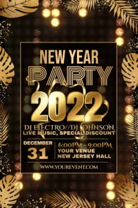 Event flyer videos,New year flyer Poster template