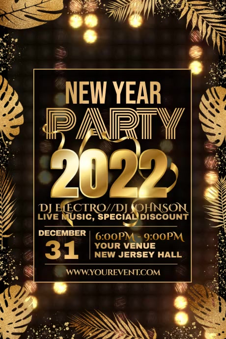 Event flyer videos,New year flyer