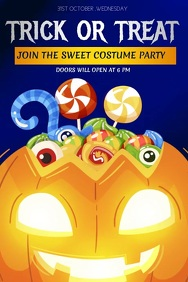 Event flyers, Halloween flyers, Halloween Plakkaat template