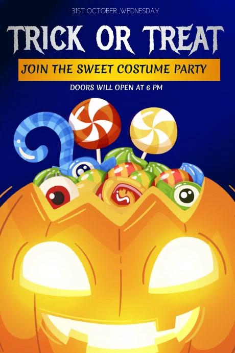 Event flyers, Halloween flyers, Halloween Póster template