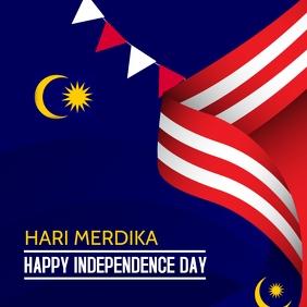 Event flyers, Hari Merdika ,Malaysia day Square (1:1) template