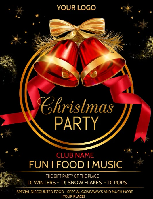 Event flyers, Party flyers ,Christmas flyers Pamflet (Letter AS) template