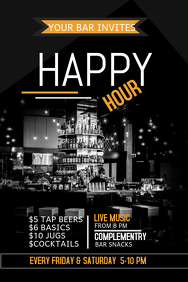event flyers,bar flyers,happy hour flyers