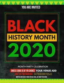 Event flyers,black history month flyers