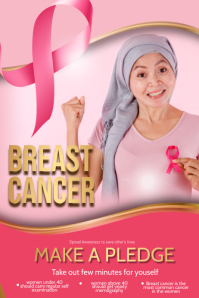 Event flyers,breast cancer flyers template