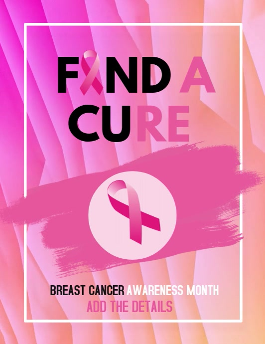 event flyers,Cancer templates Breast cancer