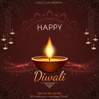 Event flyers,Celebration flyers,Diwali flyers Square (1:1) template