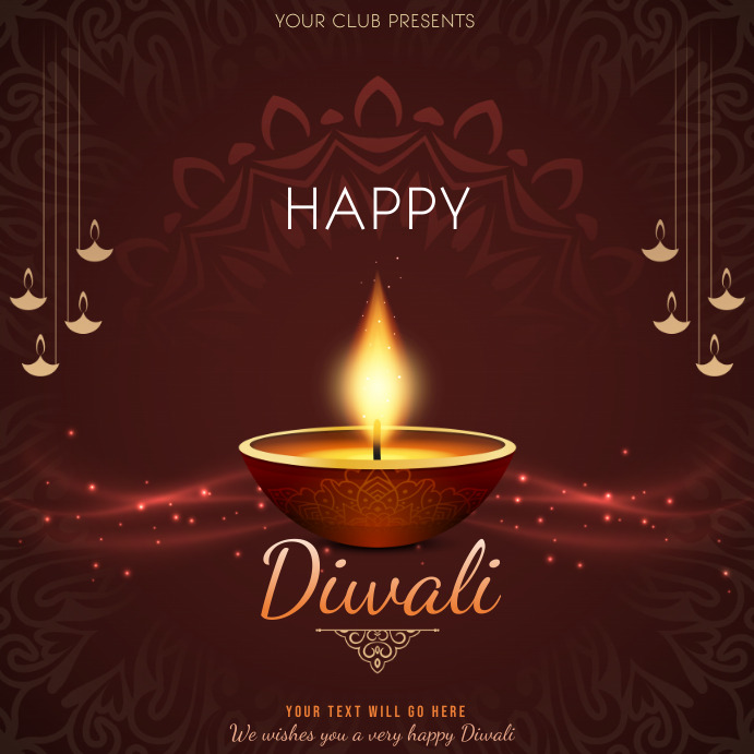 Event flyers,Celebration flyers,Diwali flyers Квадрат (1 : 1) template