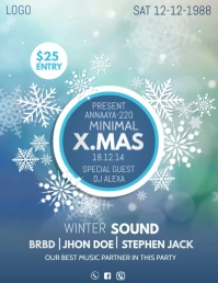 Event flyers,Christmas flyers,party flyers Volante (Carta US) template