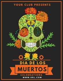 Event flyers,Dia de los muertos,