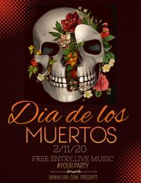 Event flyers,Dia de los muertos flyers