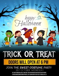 Event flyers,Halloween flyers,Kids Halloween 传单(美国信函) template