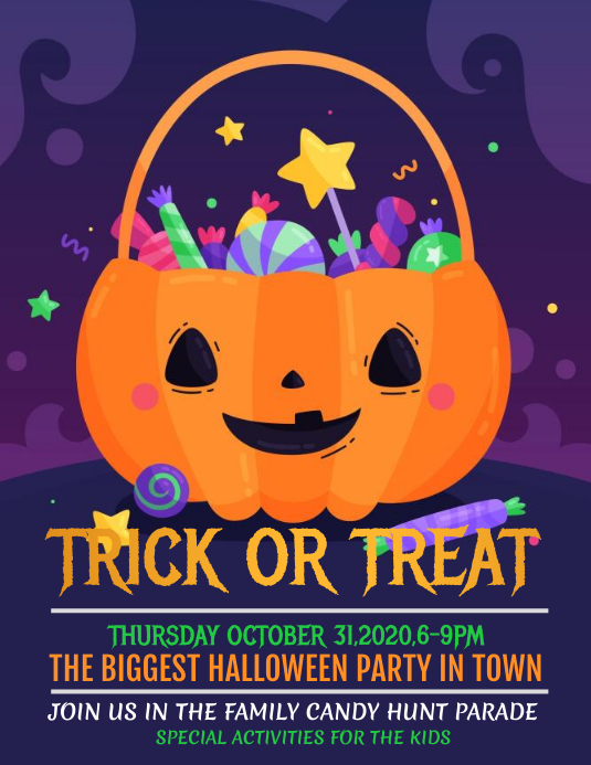 event flyers,Halloween flyers,party flyers Folder (US Letter) template