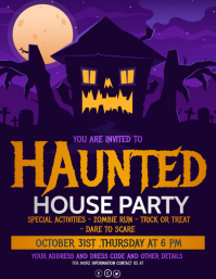 Event flyers,Halloween flyers
