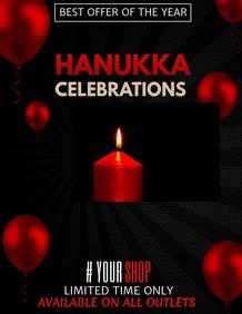 Event flyers,Hanukkah flyers,Party