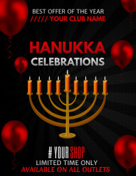 Event flyers,Hanukkah flyers,Party