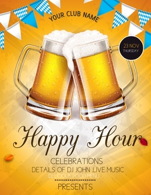 event flyers,Happy hour flyers
