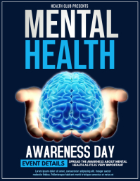 Event flyers,Mental health flyers
