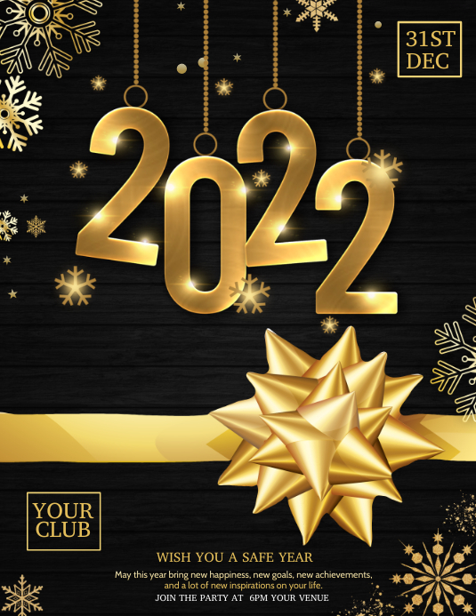 Event flyers,New year flyers,Party flyers Pamflet (Letter AS) template