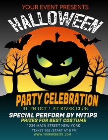 Event flyers,party flyers,Halloween flyers