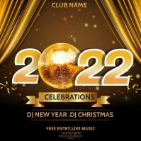 Event flyers,party flyers,New year flyers Persegi (1:1) template