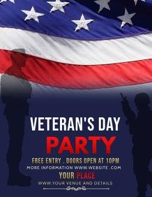 Event flyers,party flyers,Veteran's flyers