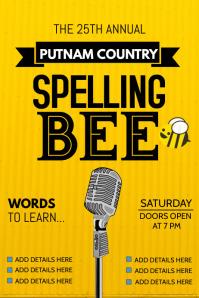 event flyers,Spelling bee flyers