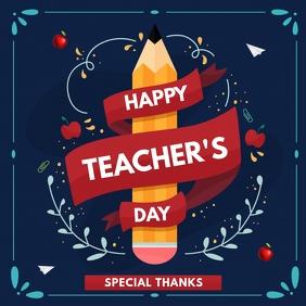 International teachers day,teacher day 方形(1:1) template