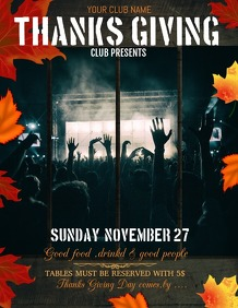 event flyers,thanksgiving templates