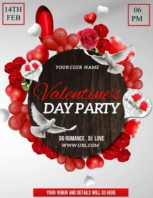Event flyers,Valentine's flyers,party flyers