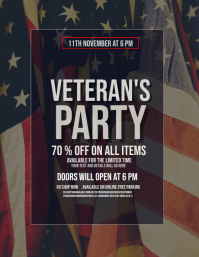 Event flyers,Veteran's day flyers Pamflet (VSA Brief) template