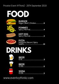 Event Menu Price List Expo Celebration Food