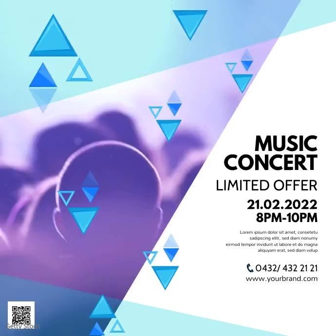 Event Music Video Cocert Invitation Ad Party